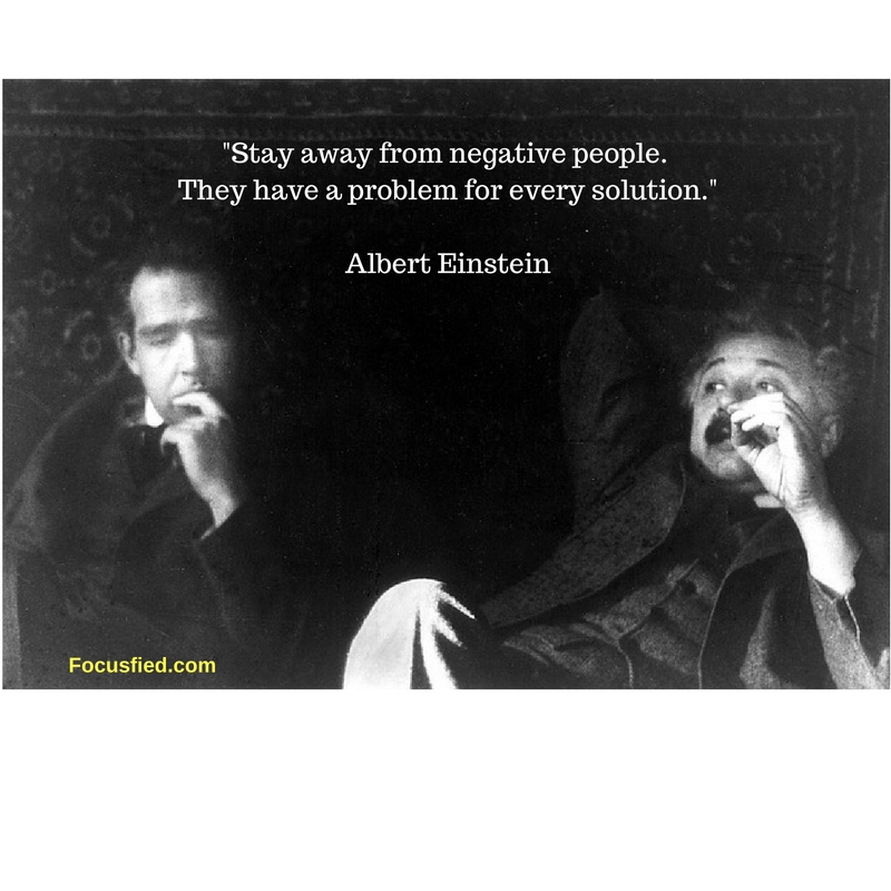 Stay Away From Negative People Quote Alberteinstein